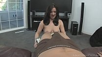 Blowjob from a busty amateur girlfriend