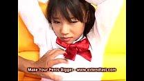 Japanese Asian School Girl Rough Blowjob Cum on... Thumbnail