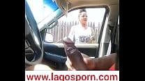 Nigeria teen girl starring at huge dick via 247...