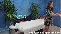 Horny Massage Girl Seduces Client