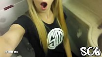Blonde Public Masturbating Airplane Bathroom Re...