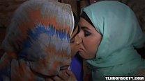 Two arab babes kissing Thumbnail