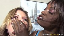 Lesbian punishment sex with Leah Livingston and...