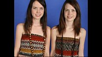 Identical Lesbian Twins posing together and sho...