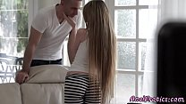 Beautiful classy babe gets assfucked