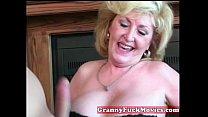 Cute blonde horny granny