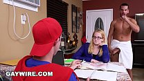 GAYWIRE - Step Dad Helps His Son Study, Gets Ca... Thumbnail