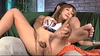 Kokoa shaved pussy filled with hot man goo