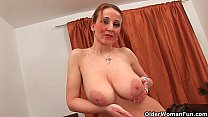 Soccer mom with natural big tits and well used ...