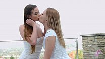 Chloe Celestine with Kiara Night having lesbian...