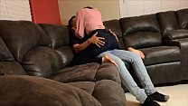 Gorgeous Girl gets fucked by Landlord in Couch ... Thumbnail
