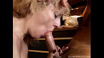 Sexy blonde MILF gives a great blowjob