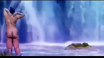 Desi publicly nude in front of water fall. Thumbnail