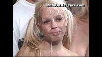 Blonde In Pigtail Bukkake