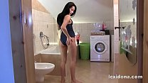 Fit Body - Hot babe Lexi Dona masturbates in a ...