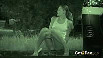 Caught Pissing On Night Vision CCTV Thumbnail