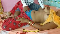 Indian newly married cute couple first-time har...