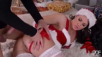 Mrs. Santa gets her fill of cock on X-mas eve Thumbnail