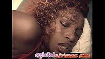 Hot ebony chick enjoys as she masturbates with ...