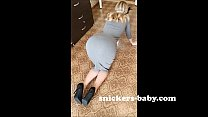 Big ass teen hot sexy girl homemade hot wife Tight long dress for lady stockings red panties Snickers baby