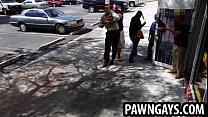 Amateur hunk caught stealing at the pawn shop