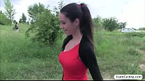Beautiful teen Isabelle gets creampied