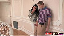 India Summer threesome sex with cute teen Veron...