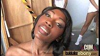Ebony babe sucks too many white cocks 15