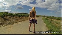 Sexy and naked on the road Thumbnail