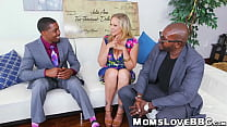 Curvy MILF with big tits double fucked by big d...