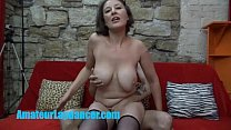 Busty czech MILF gives lapdance and handjob to ...