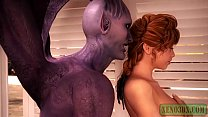 3D Monster Sex. Red head hottie fucked by Horny Satan &amp_ his slutty Demonic Wife.