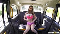 Busty teen Stella Cox gets a free ride and cum ...