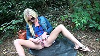 Sexy blonde Debbies public flashing and outdoor...