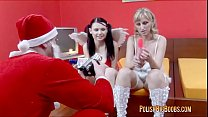 Petra Polish Big Boobs In Sheer Nightie With Santa (See Through Nightie)
