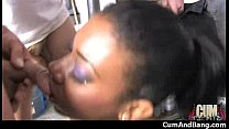 Black Slut Group Attacked In Her Mouth 15