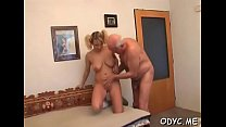 Gorgeous amateur slut enjoys 69 and rides old boy wildly