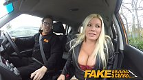 Fake Driving School squirting orgasm busty milf takes creampie after lesson Thumbnail