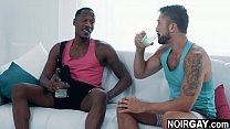 Married black and white friends interracial gay...
