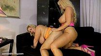 Busty Blonde Karen Fucks Fat Ass Samantha 38G w...