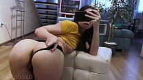 young Russian girl shows her holes before going...