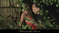 Download video bokep Sexy blonde bound and hard fucked in the forest 3gp terbaru