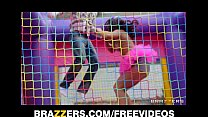Teen birthday girl Mischa Brooks gets some hard dick at her party