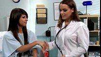 lesbian doctor seducing a teen by massage s...