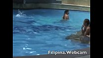 Filipina.webcam girl in pool party get ready in...