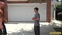 Dustin receives a hot blowjob by Johnny Thumbnail