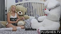 Erotic model Nika N first time sex on camera wih teddy bear Jack[part1]