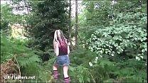 Amateur flasher Simonas outdoor cucumber masturbation and alternative homemade exhibitionism