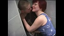 Russian Mom and son in bathroom Thumbnail