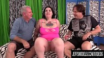 Slutty Plumper Nova Jade Shares Her Holes with a Couple of Horny Old Men